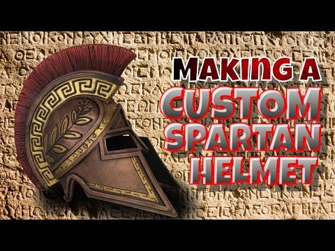 Making A Custom Spartan Helmet