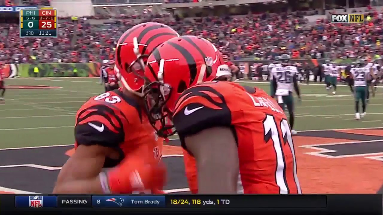 Brandon LaFell Makes Two Great Catches to Pad Bengals Lead! | Eagles vs. Bengals | NFL