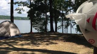 Tent camping @ Denby Point campground Lake Ouachita Arkansas campsite 40 Tent camping site