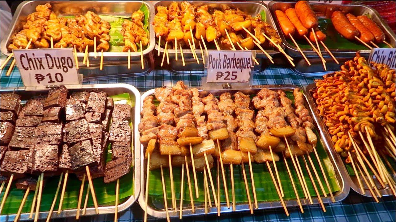 Amazing Bbq Street Food Ihaw In The Philippines