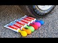 Crushing Crunchy & Soft Things by Car! - Toothpaste with Balloons vs Car