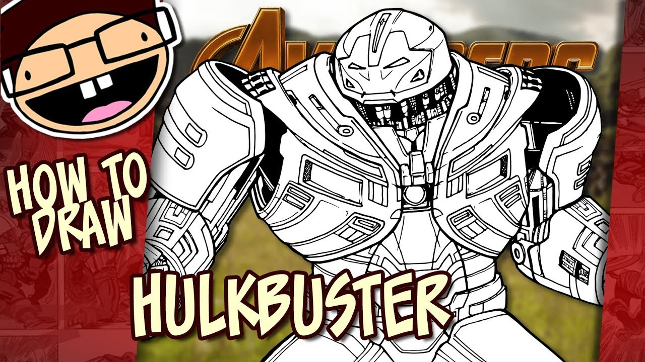 How To Draw The Hulkbuster Iron Man Armor Avengers Infinity War Narrated Step By Step Tutorial