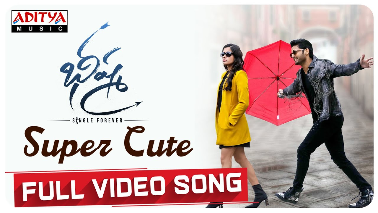 Super Cute Full Video Song Bheeshma Movie Nithiin Rashmika Venky Kudumula Mahati Swara Sagar Youtube