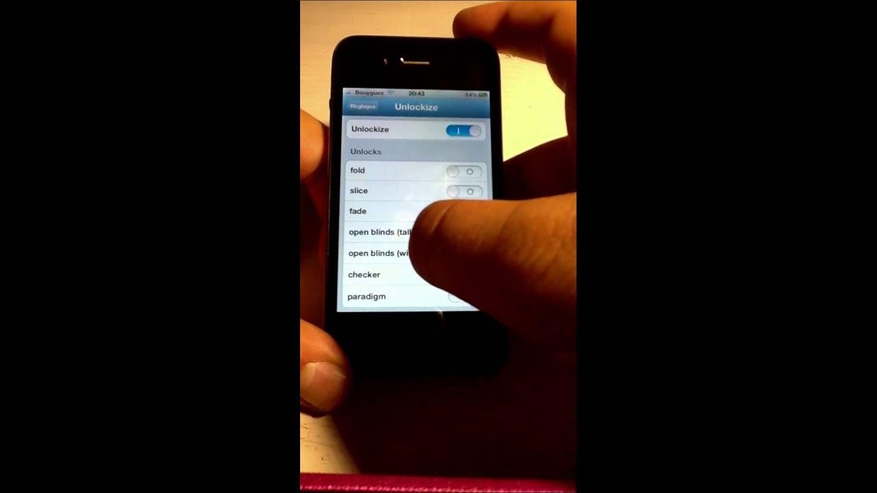 modifier l effet du d verrouillage de son iphone avec unlockize youtube