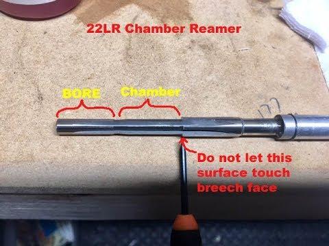 22LR chamber Reamer on an Erma Werke LA-22