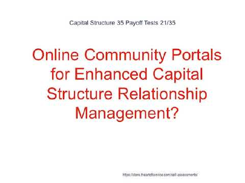 Capital Structure 35 Payoff Tests