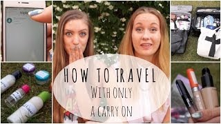 HOW TO: Survive and Travel with only a Carry On Thumbnail