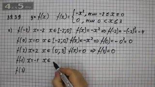 Упражнение 39.39. Вариант А. Алгебра 7 класс Мордкович А.Г.