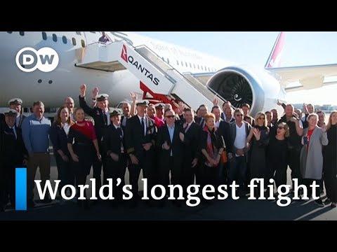 World's longest nonstop commercial flight lands in Sydney   DW News