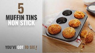 Top 10 Muffin Tins Non Stick [2018]: Kurtzy Carbon Steel 6 Cups Non Stick Baking Pan Bakeware