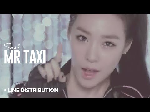 GIRLS GENERATION - Mr Taxi : Line Distribution