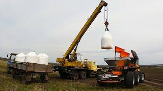 УХ-ТЫ!!! Вот это АППАРАТ! Новое пополнение в хозяйстве ТУМАН 2. Разбрасываем минеральное удобрение!