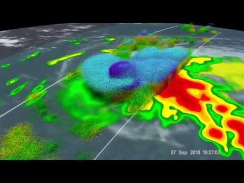 GPM Observes Tropical Storm Florence Temporarily Weakened by Wind Shear