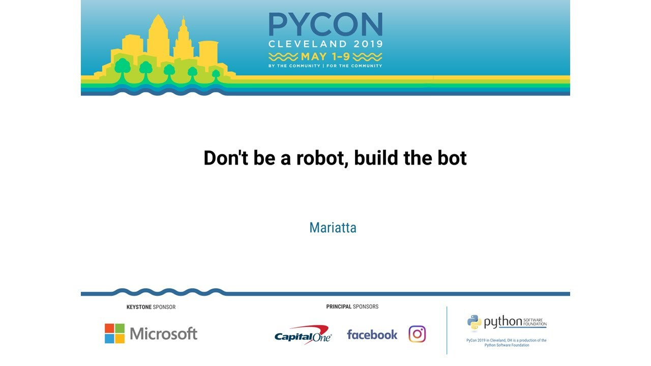 Image from Don't be a robot, build the bot