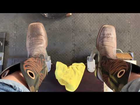 Shoe Shine ASMR, Western Ariat Boots How To Clean Old Cracked Shoe Polish