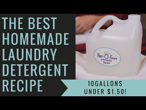 The Best Homemade Liquid Laundry Detergent For Around 13 Cents Per Gallon Recipe