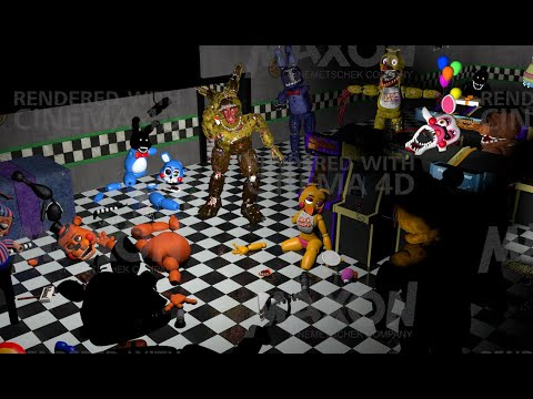 C4D Fnaf SpeedArt Toys Destroyed
