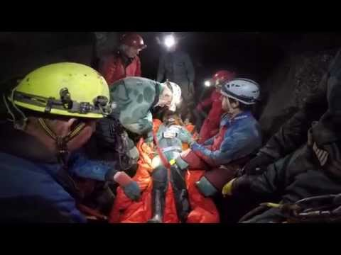 A mine rescue practice in Cwmystwyth, Mid Wales