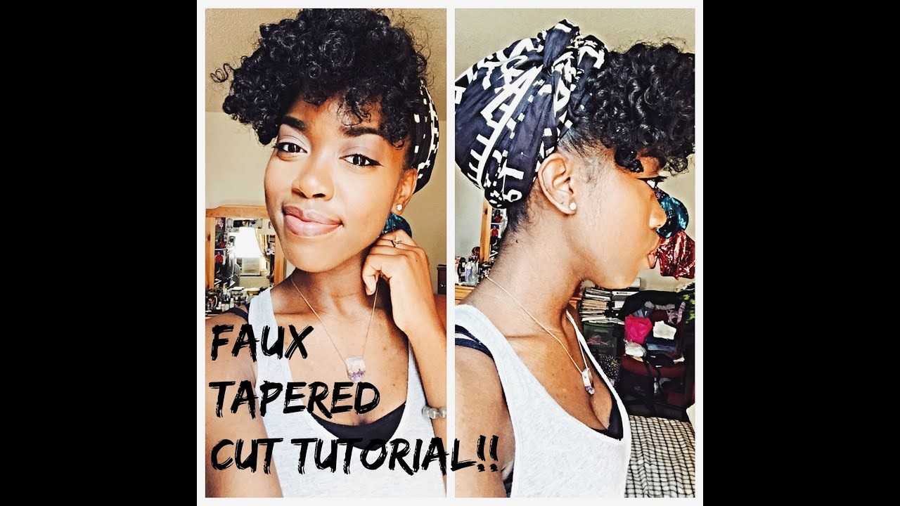 natural hair - faux tapered cut
