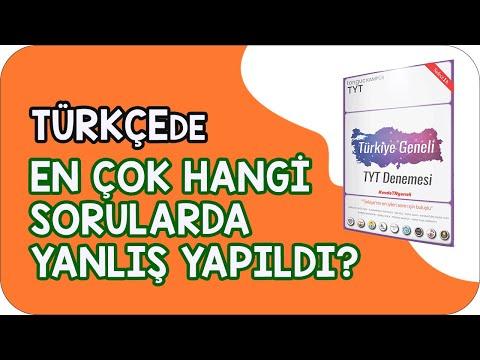 Türkiye Geneli TYT Denemesi Türkçe Soru Çözümü | En Çok Hangi Sorularda Yanlış Yapıldı?
