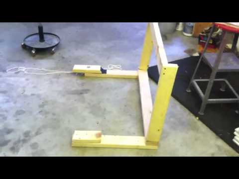 Homemade motocross start gate