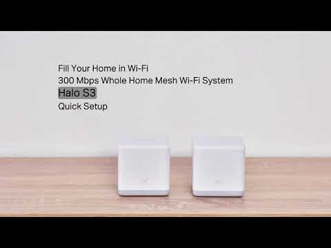 How to set up Mercusys Halo Mesh Wi Fi System-Halo S3