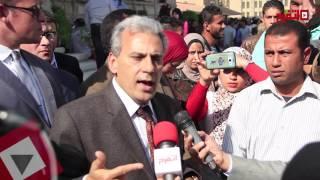 جابر نصار يشارك في مسيرة «لا للتحرش» في جامعة القاهرة (اتفرج)