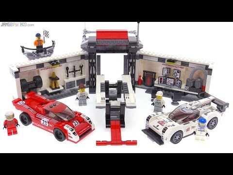 lego speed champions porsche 919 917k pit lane review youtube. Black Bedroom Furniture Sets. Home Design Ideas