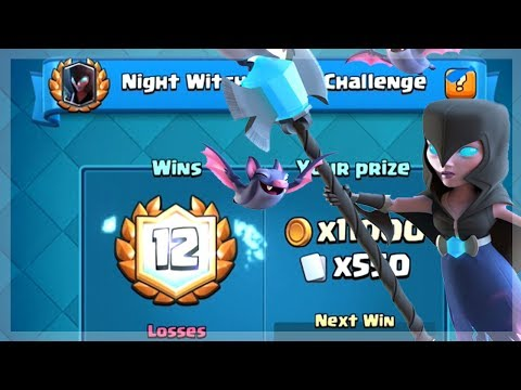 HOW TO GET 12 WINS AND UNLOCK NIGHT WITCH | Clash Royale | Night Witch Draft Challenge