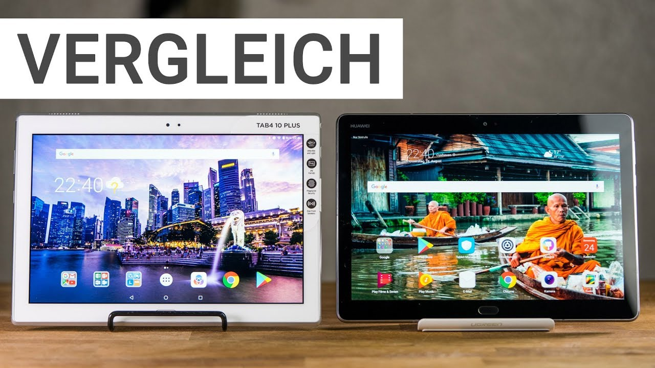tablet vergleich lenovo tab 4 10 plus vs huawei mediapad m3 lite 10 deutsch youtube. Black Bedroom Furniture Sets. Home Design Ideas