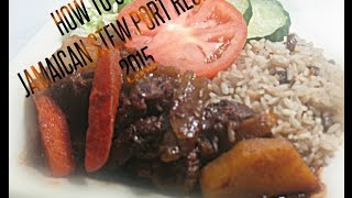 How To Cook Jamaican Stew Pork Recipe Video 2015