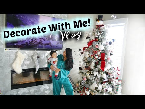 Christmas Decorate With Me! Putting Up The Christmas Tree -  MissLizHeart