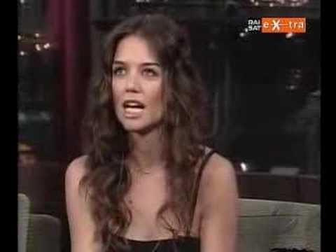 Katie Holmes on David Letterman part1