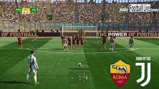 PES 2019 | Roma vs Juventus | C.Ronaldo Free Kick Goal | Gameplay PC