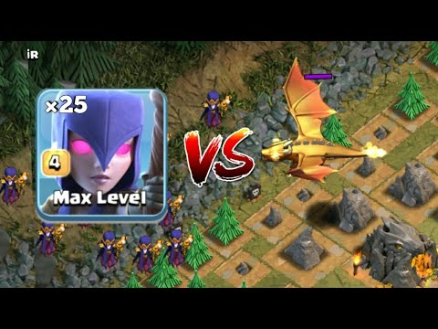 ALL MAX WITCH vs NEW BOSS DRAGON!! Clash Of Clans New Update