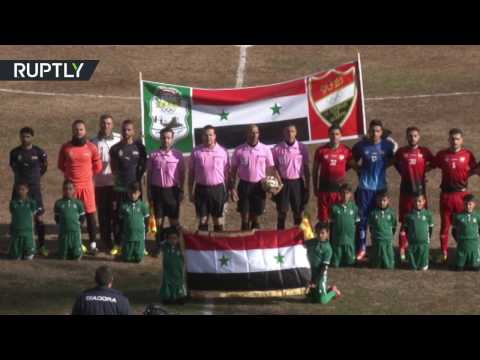 Football begins again in Aleppo after 5 years of fighting