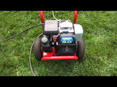 Troy Bilt Power Washer Honda GCV160 5.0HP Engine -- Washed/Oil Change Restart Part II - May 18, 2013