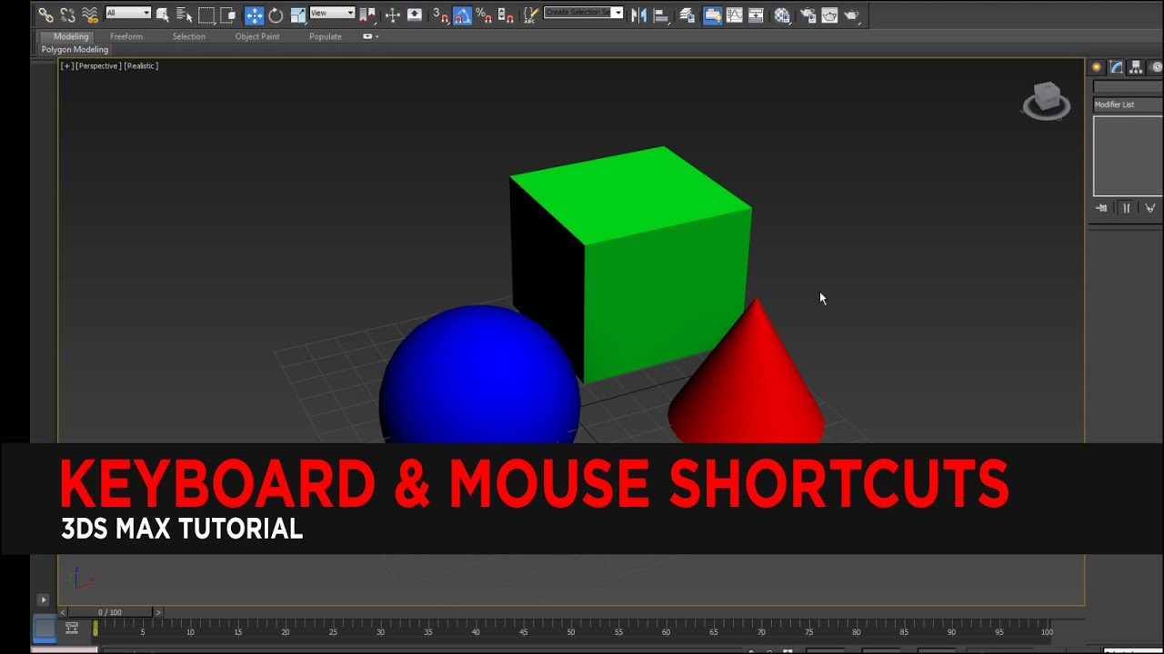 Tutorial : Keyboard & Mouse Shortcuts in 3DS Max