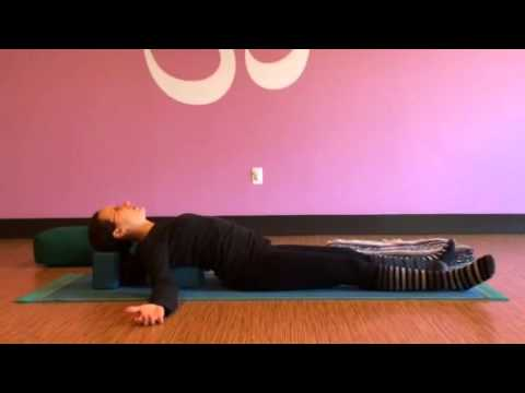 supported fish pose neck and back support  youtube