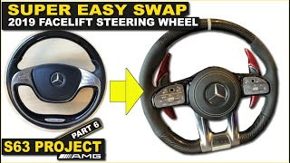 Gambar cover Mercedes Facelift steering wheel retrofit W166 W213 W205 W176 W222. S63 Project part 6.