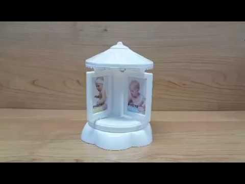 Cute musical rotating photo frame