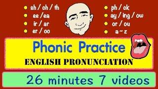 Phonic Sounds | Pronunciation | Long Video | English Speaking Practice | ESL | EFL