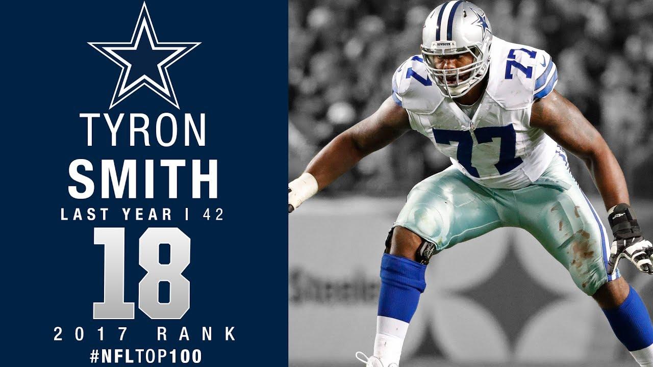 18 Tyron Smith OT Cowboys Top 100 Players of 2017