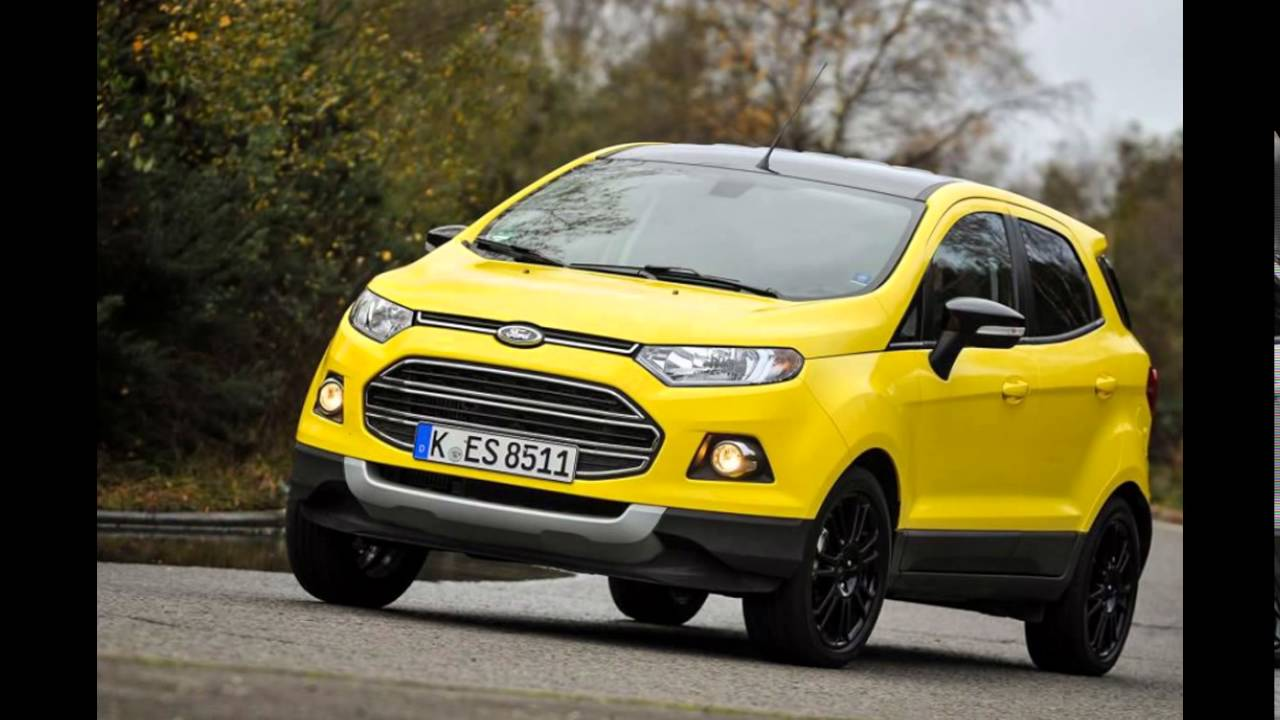 2016 ford ecosport bright yellow youtube. Black Bedroom Furniture Sets. Home Design Ideas