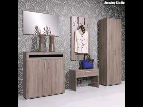 moderne flur m bel flur tapeten youtube. Black Bedroom Furniture Sets. Home Design Ideas