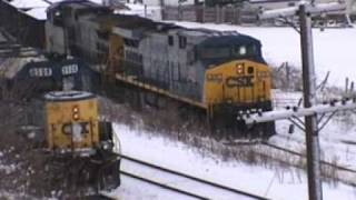 Lunging locomotives finally grip the rails as CSX 419 stalls. PART I... Read story...