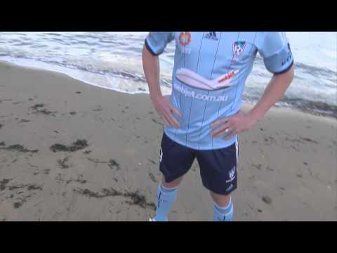 Shane Smeltz In Sydney FC's New Look Home Strip