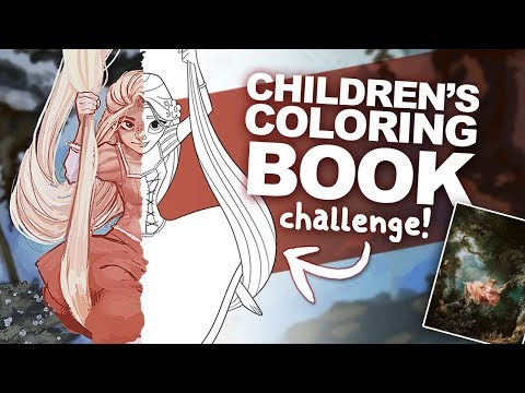 PAINTING a COLORING PAGE like a CLASSICAL PIECE OF ART | the Coloring Page Challenge