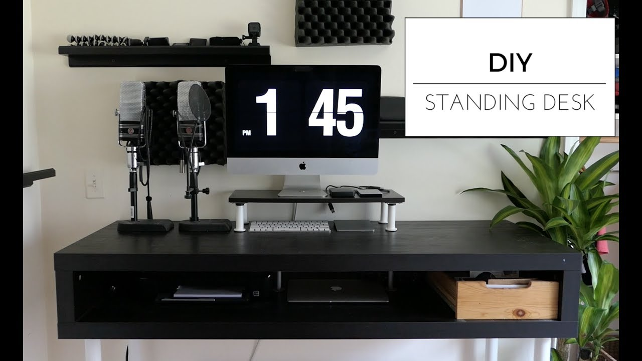 $110 DIY Standing Desk (IKEA HACK) - YouTube