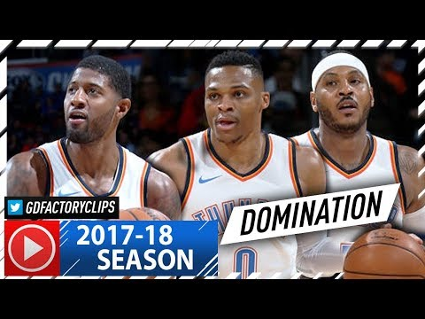 Russell Westbrook, Carmelo Anthony & Paul George BIG 3 Highlights vs Bulls (2017.11.15) - CRAZY!
